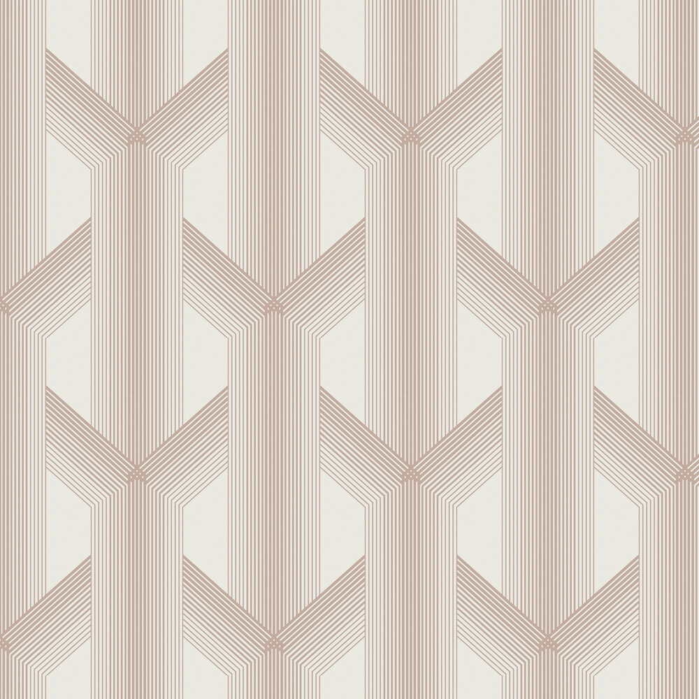 Graham & Brown Lagom White / Rose Gold Wallpaper - Product code: 106763