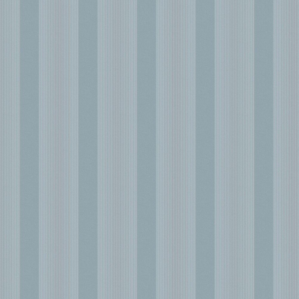 Lagom Stripe Wallpaper - Deep Sky - by Graham & Brown