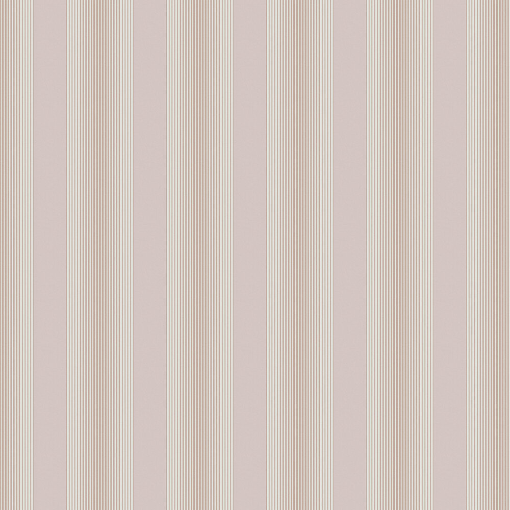 Lagom Stripe Wallpaper - Blush / Rose Gold - by Graham & Brown