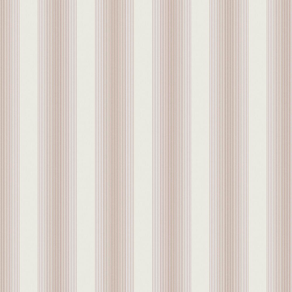 Lagom Stripe Wallpaper - White / Rose Gold - by Graham & Brown