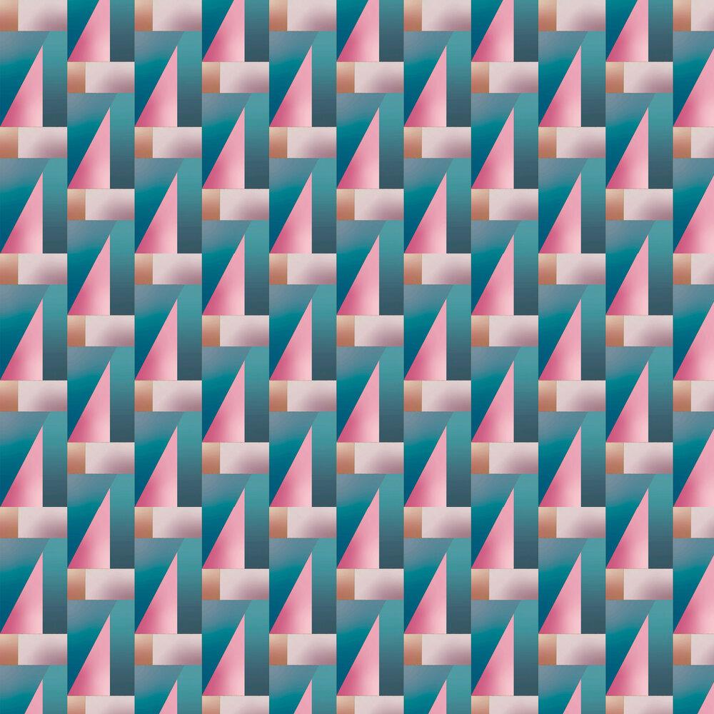 Iridescent Wallpaper - Aqua / Pink - by Tres Tintas