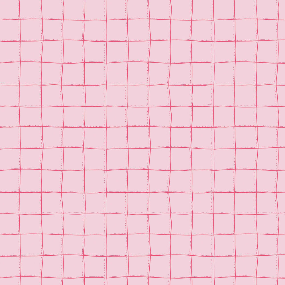 Squares Wallpaper - Pink - by Tres Tintas