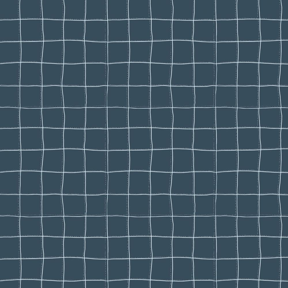 Squares Wallpaper - Navy - by Tres Tintas