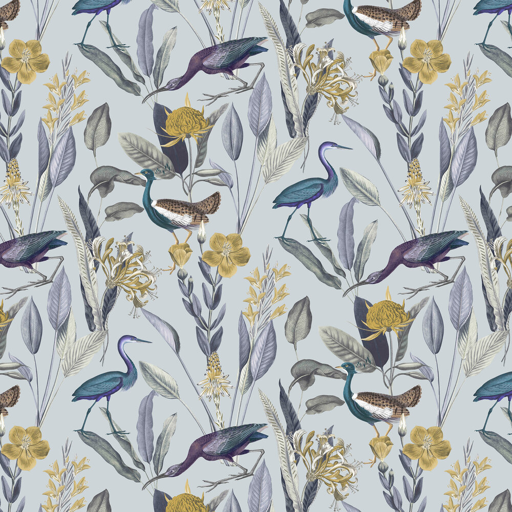 Glasshouse Wallpaper - Soft Grey - by Graham & Brown