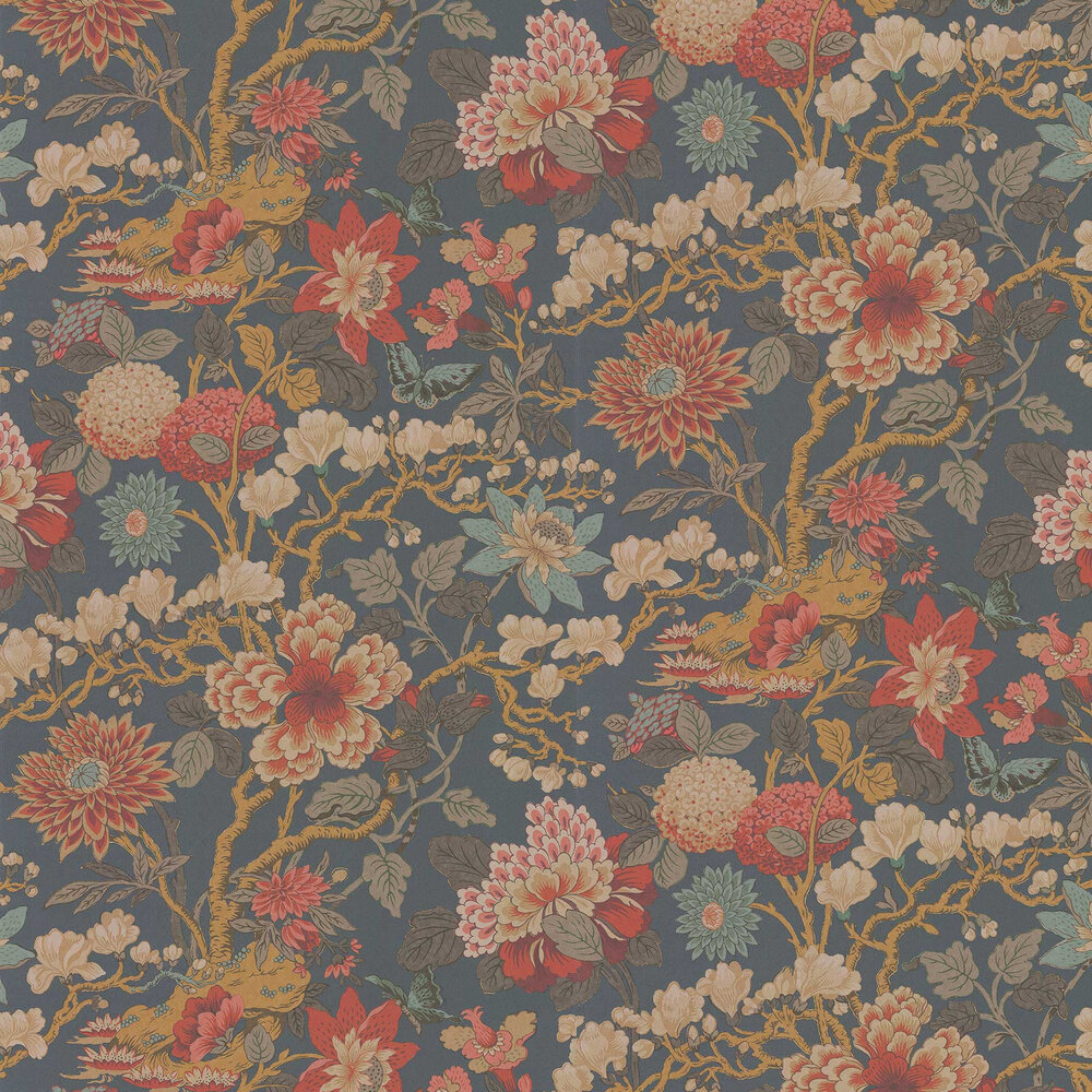 Magnolia Wallpaper - Spice - by G P & J Baker