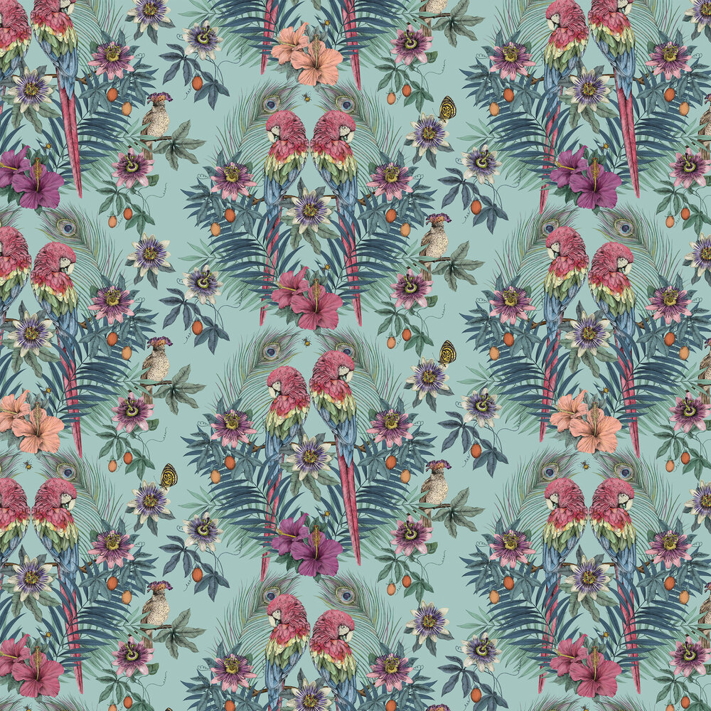 Matthew Williamson Ventura Aqua Wallpaper - Product code: W7494-01