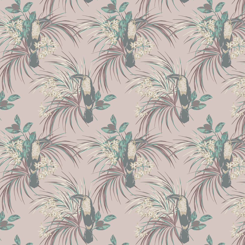 1838 Wallcoverings Le Toucan Rose Wallpaper - Product code: 1907-135-02