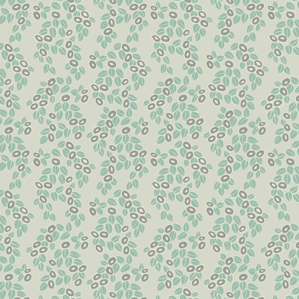 Rosetta Wallpaper - Neo Mint - by 1838 Wallcoverings