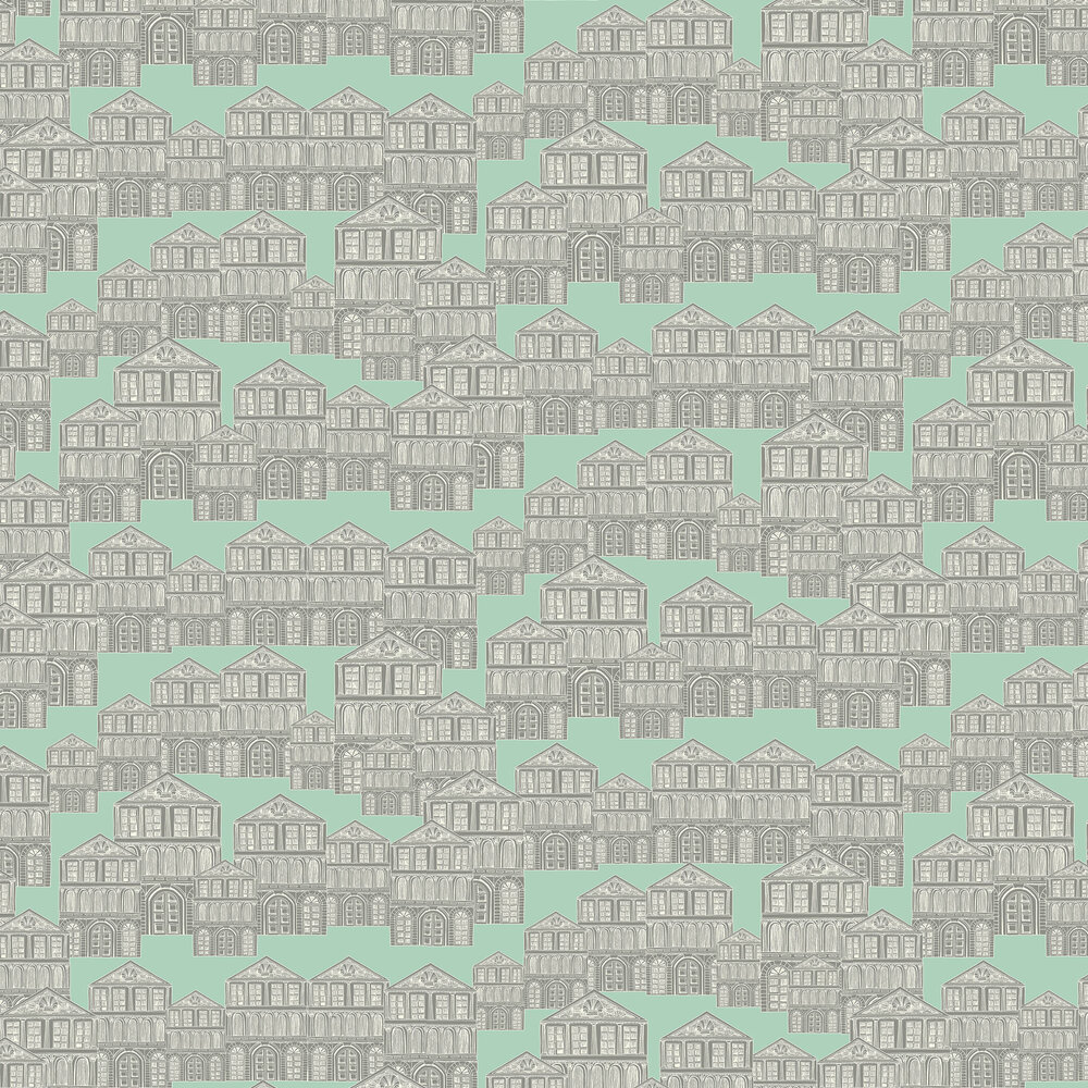 Maison Wallpaper - Neo Mint - by 1838 Wallcoverings