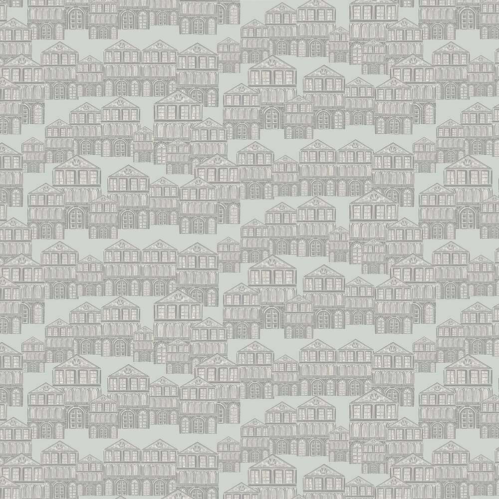 Maison Wallpaper - Soft Grey - by 1838 Wallcoverings