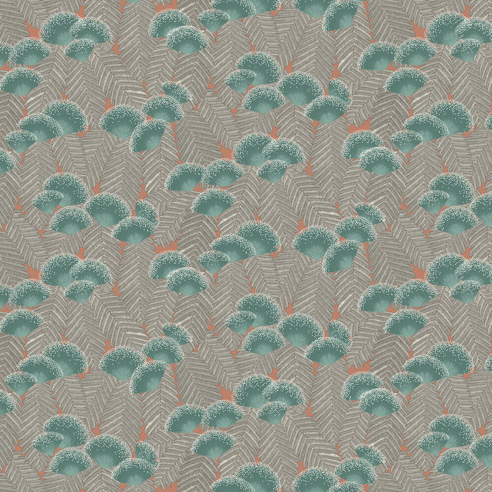 Clarice Wallpaper - Cantaloupe - by 1838 Wallcoverings