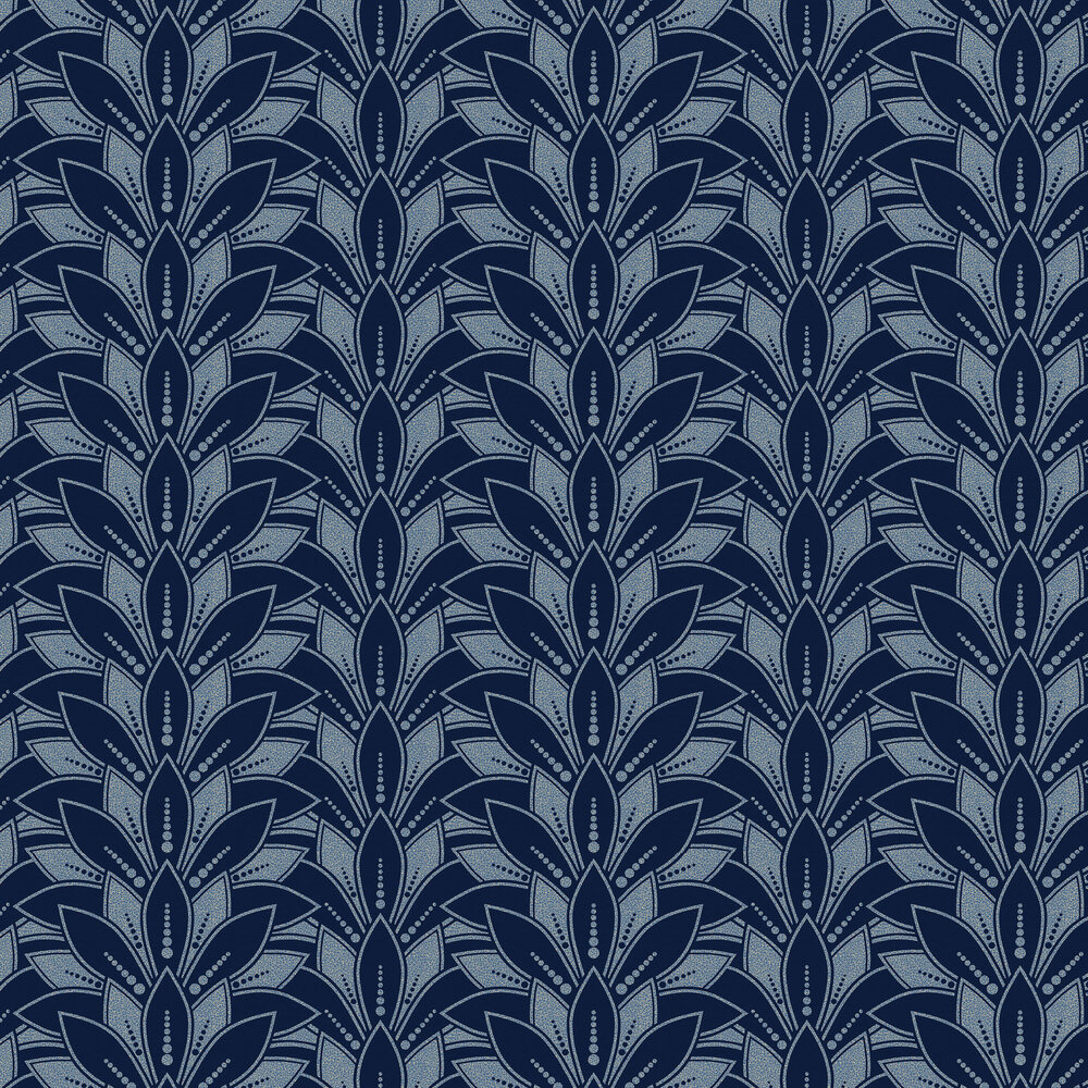Astoria Wallpaper - Midnight - by 1838 Wallcoverings