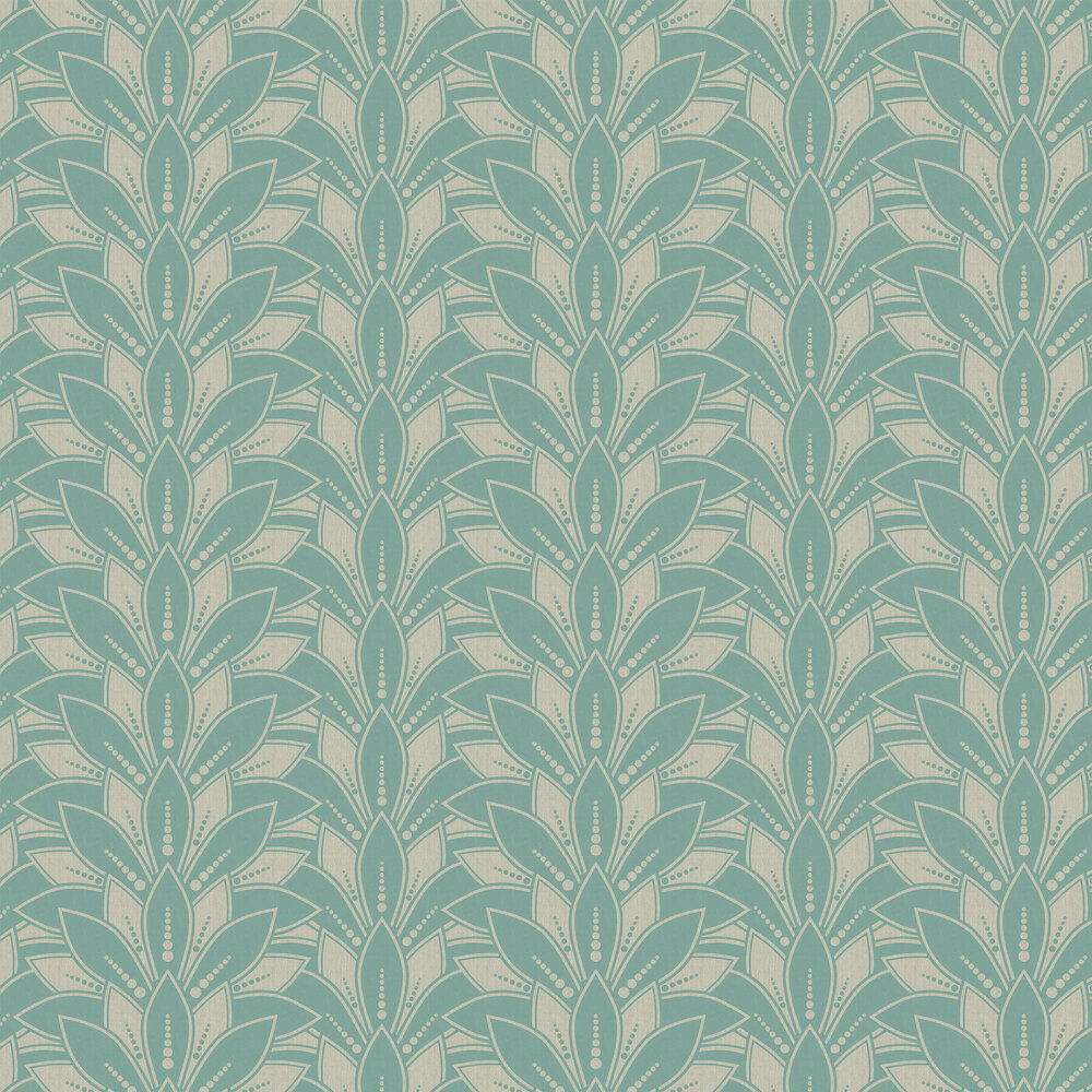 Astoria Wallpaper - Neo Mint - by 1838 Wallcoverings