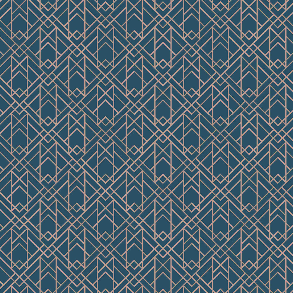 Metro Wallpaper - Midnight - by 1838 Wallcoverings