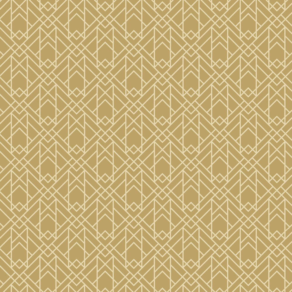 Metro Wallpaper - Mustard - by 1838 Wallcoverings
