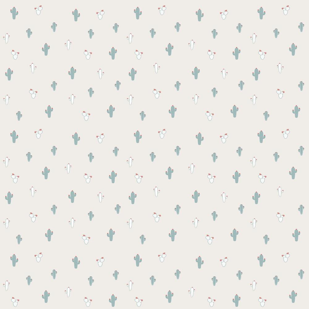 Cactus Wallpaper - Grey - by Galerie