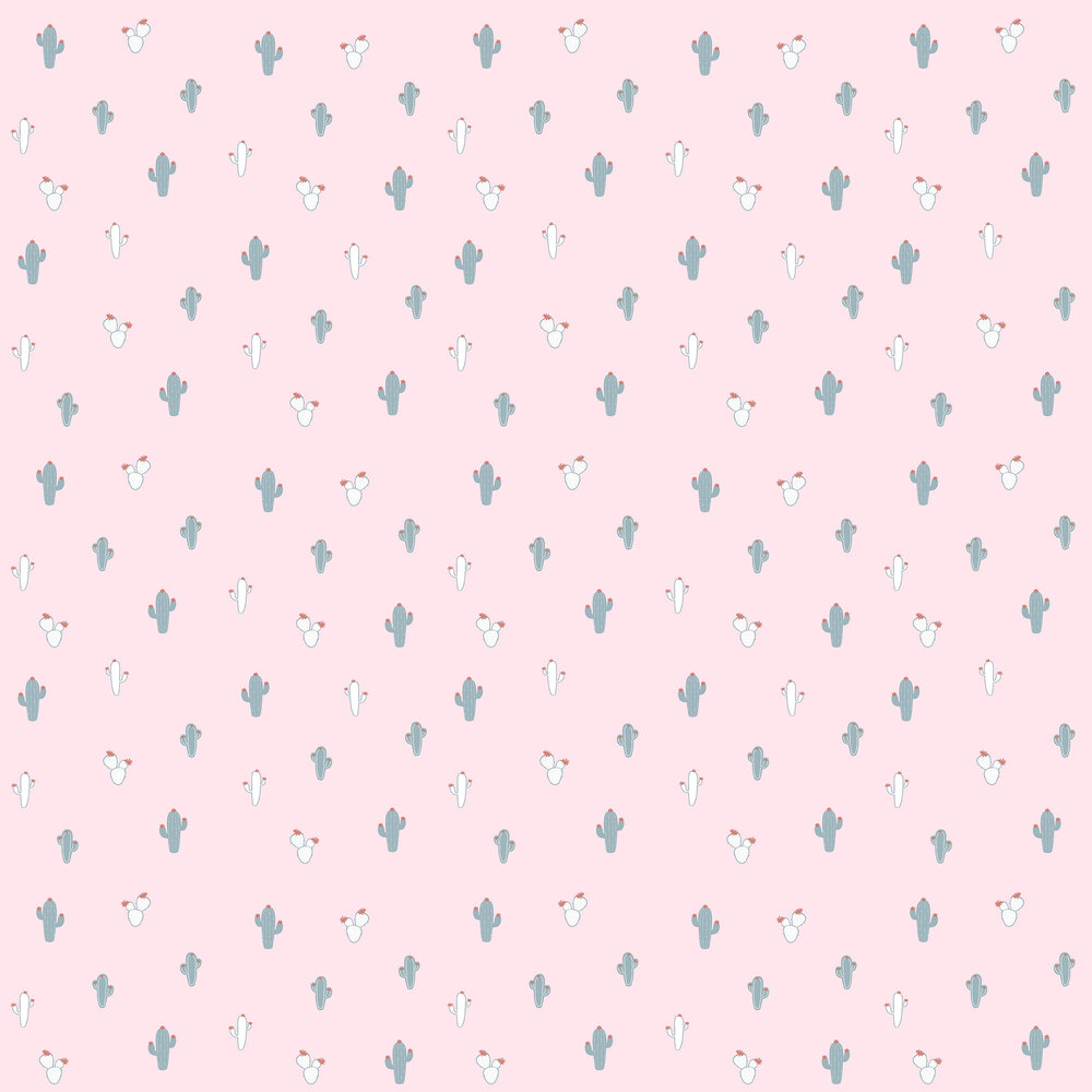 Cactus Wallpaper - Pink - by Galerie