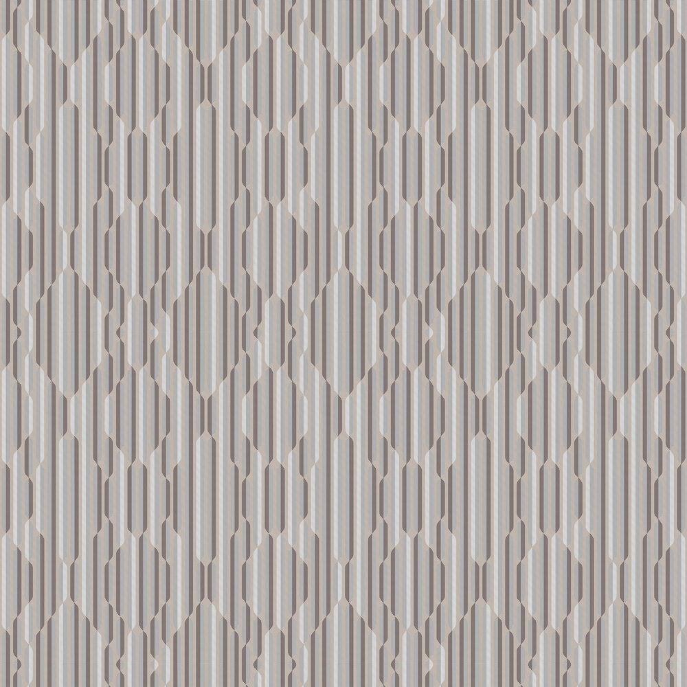 Optical Wallpaper - Beige - by Tres Tintas