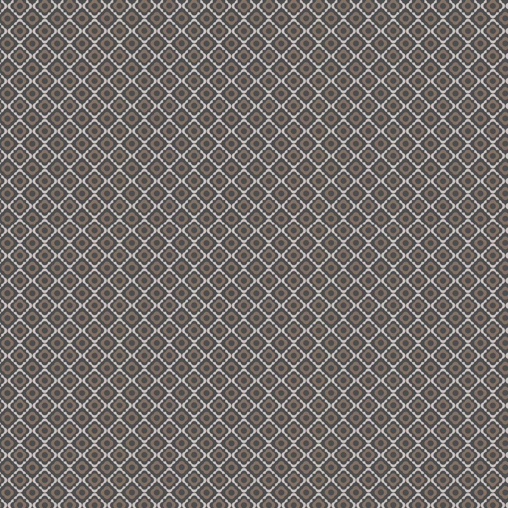 Quatrefoil Wallpaper - Kohl - by Paint & Paper Library