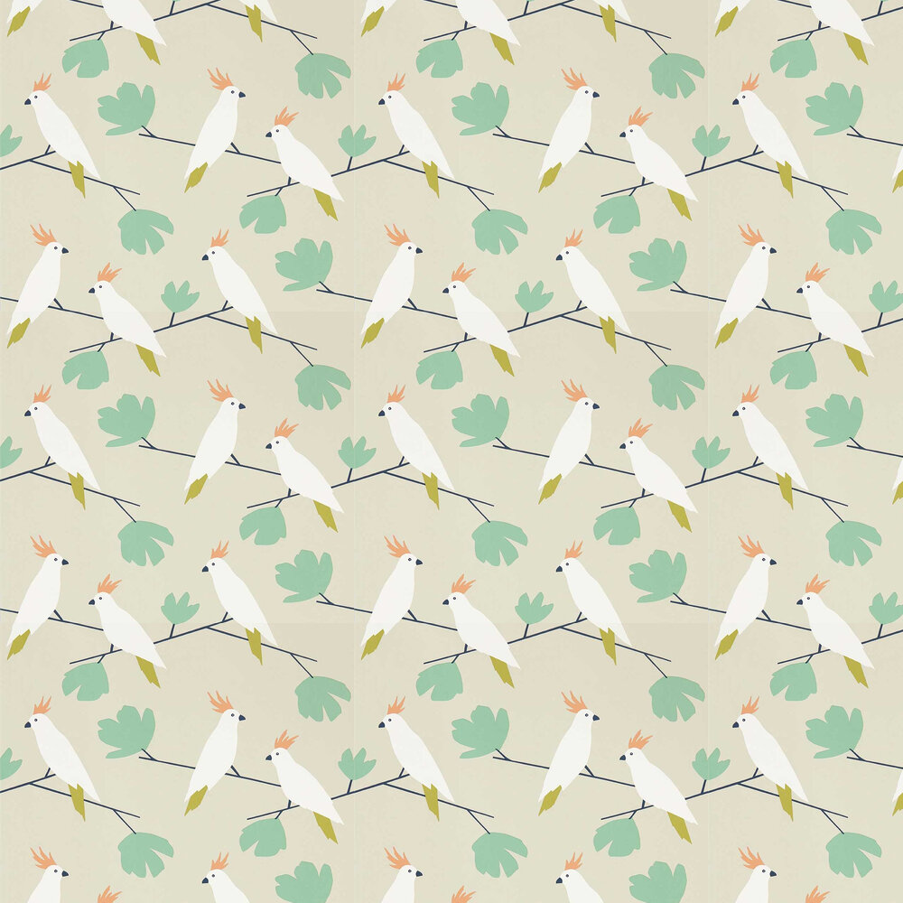 Love Birds Wallpaper - Flamenco - by Scion