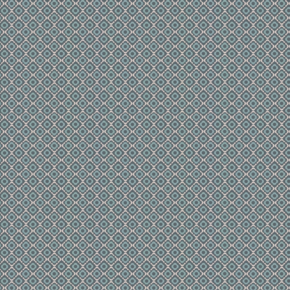 Quatrefoil Wallpaper - Squid Ink - by Paint & Paper Library