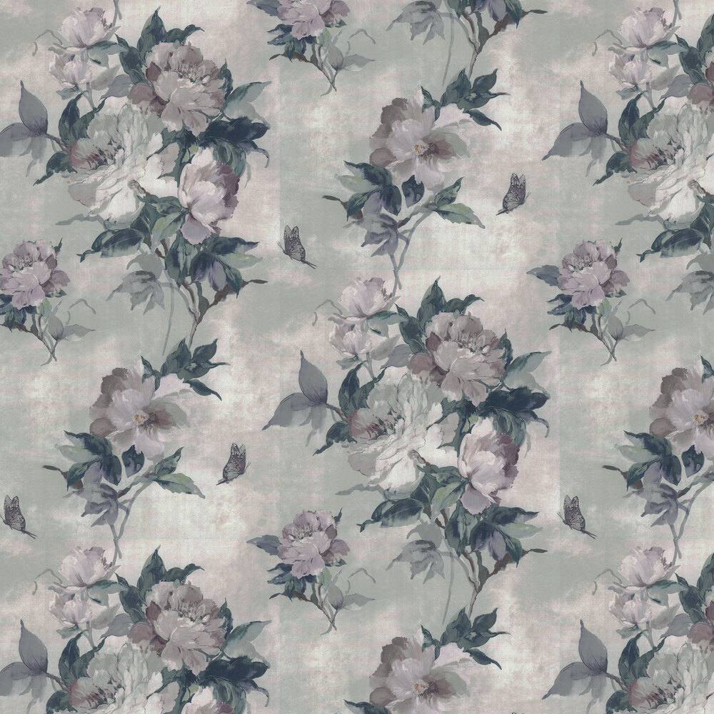 Madama Butterfly Wallpaper - Ivory - by 1838 Wallcoverings