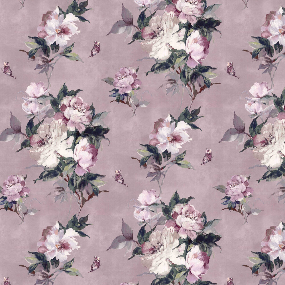 Madama Butterfly Wallpaper - Blush - by 1838 Wallcoverings