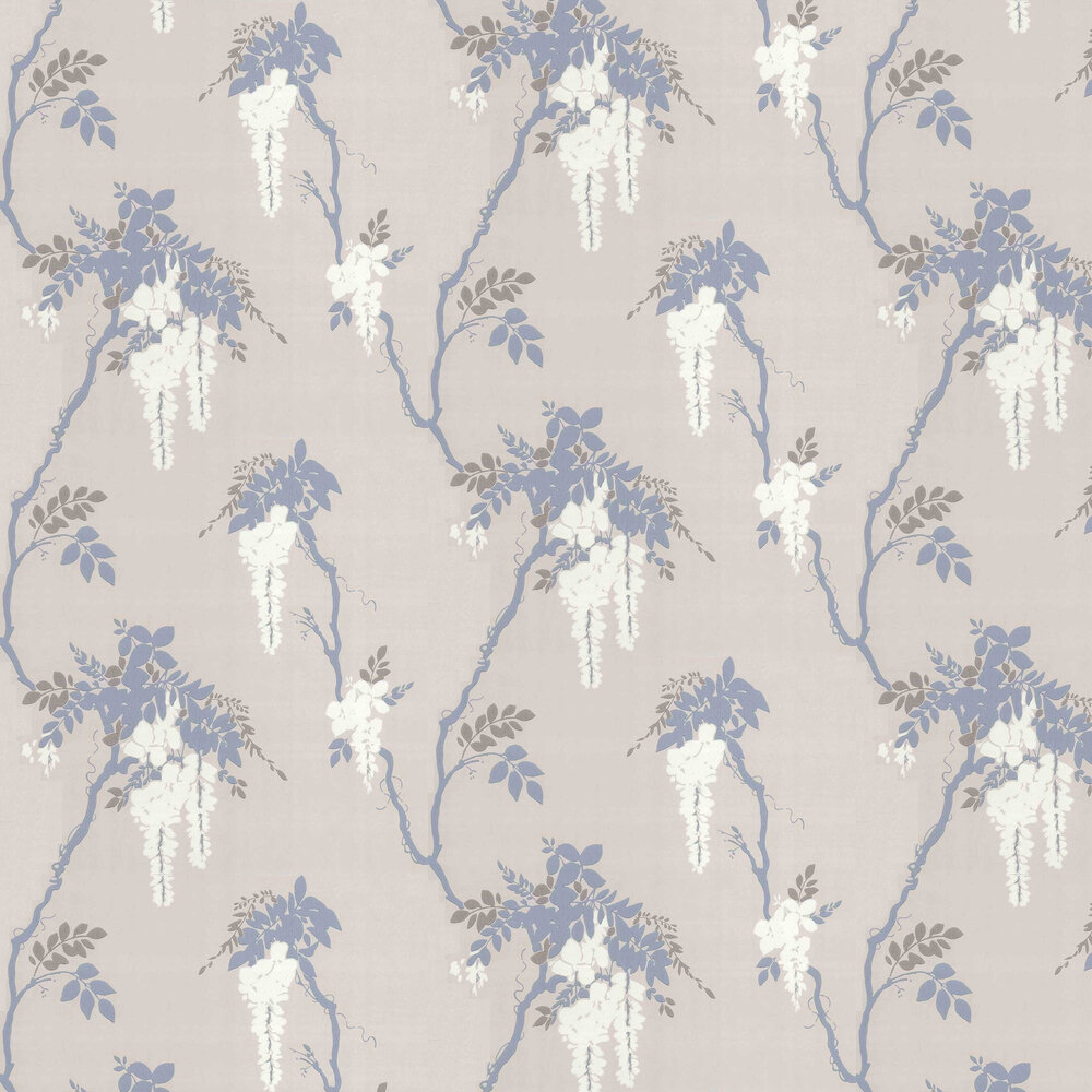 1838 Wallcoverings Leonora Denim Wallpaper - Product code: 1703-109-02
