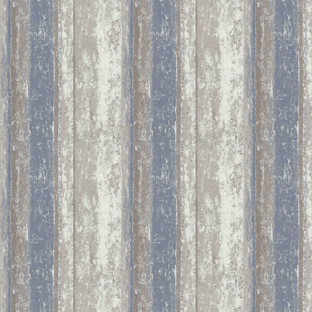 Linea Wallpaper - Denim - by 1838 Wallcoverings