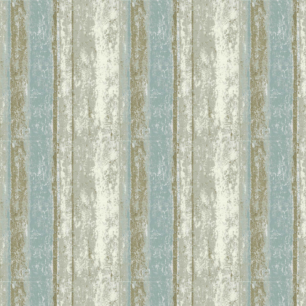 Linea Wallpaper - Teal - by 1838 Wallcoverings