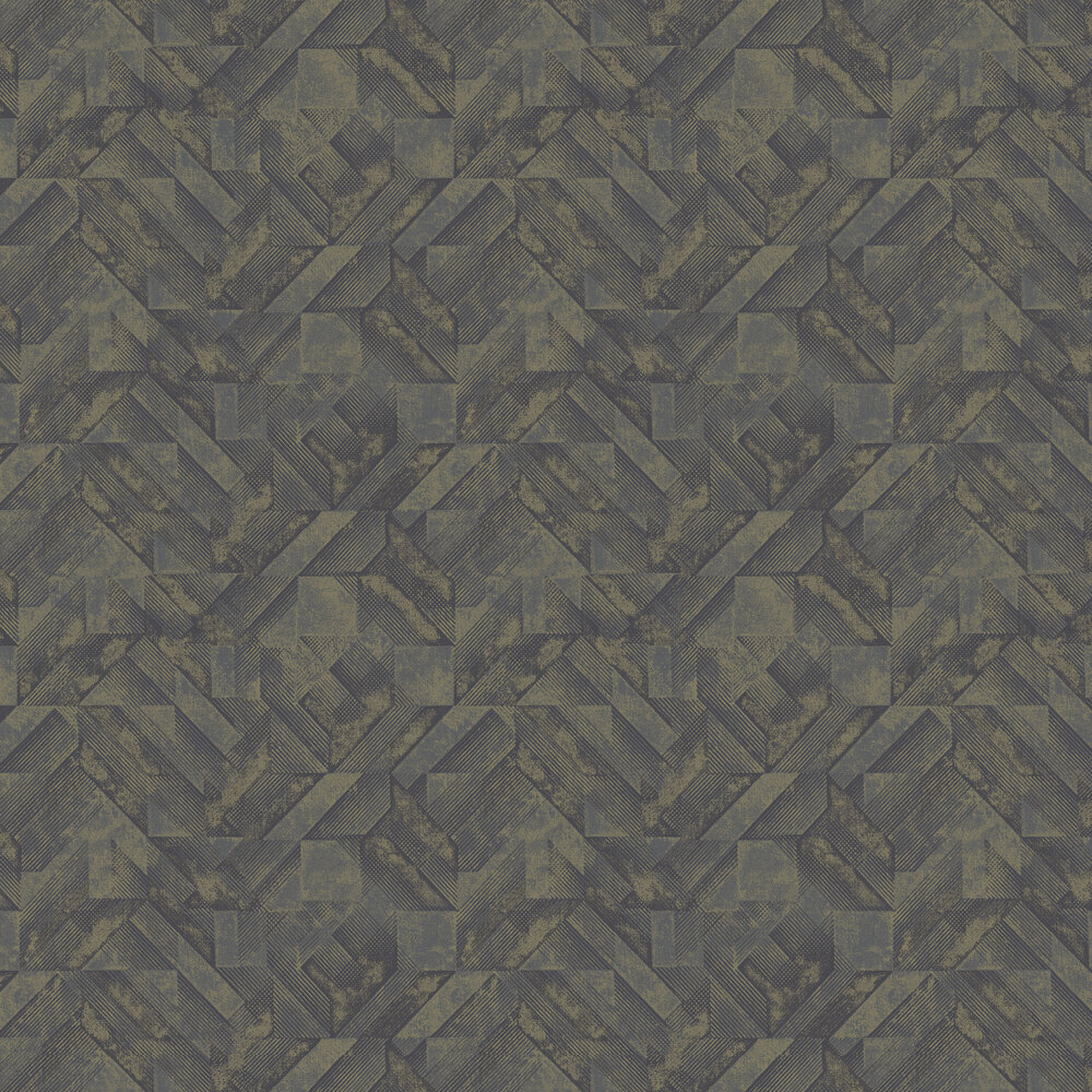 Huxley Wallpaper -  Navy/ Gold - by Albany