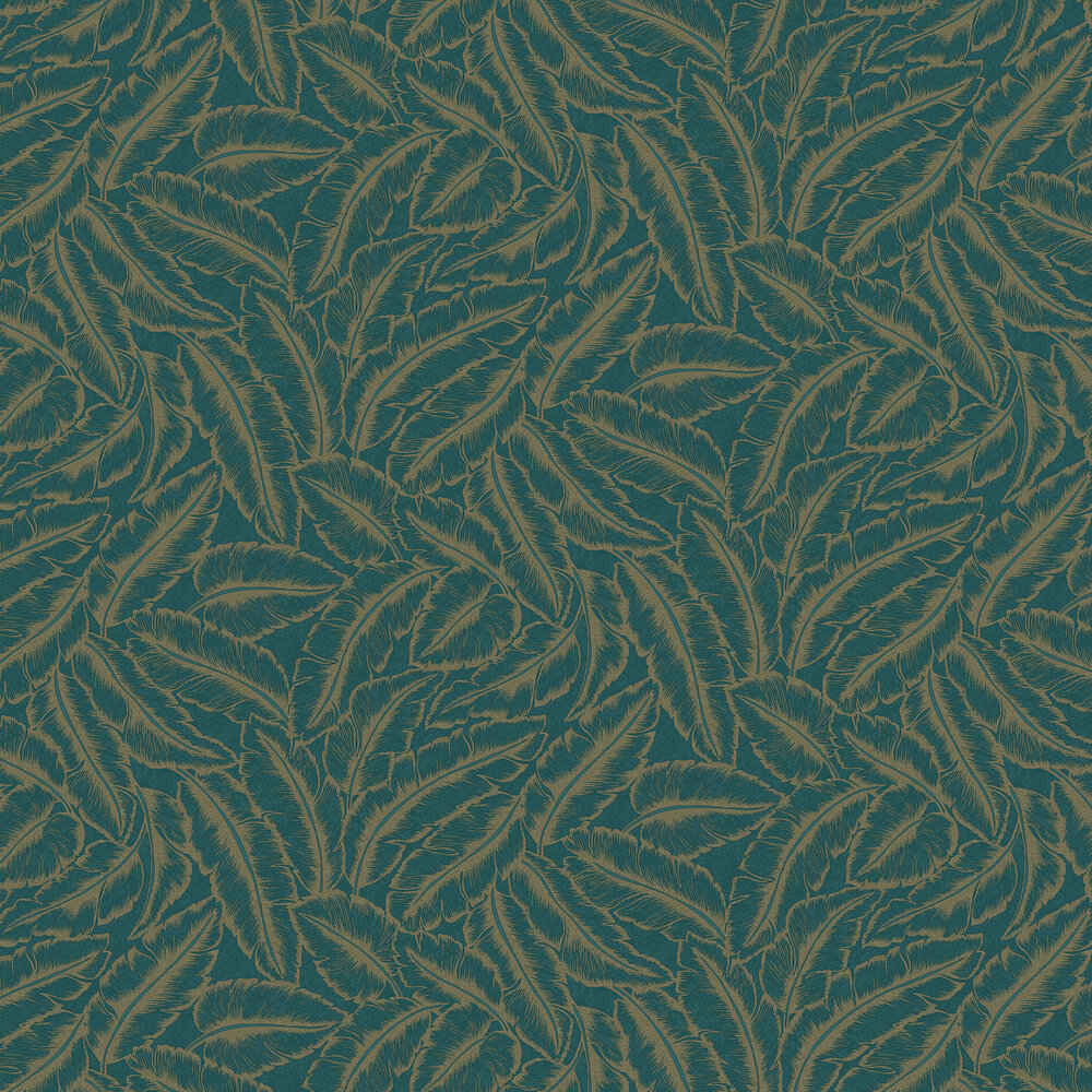 Elgin  Wallpaper - Teal - by Albany