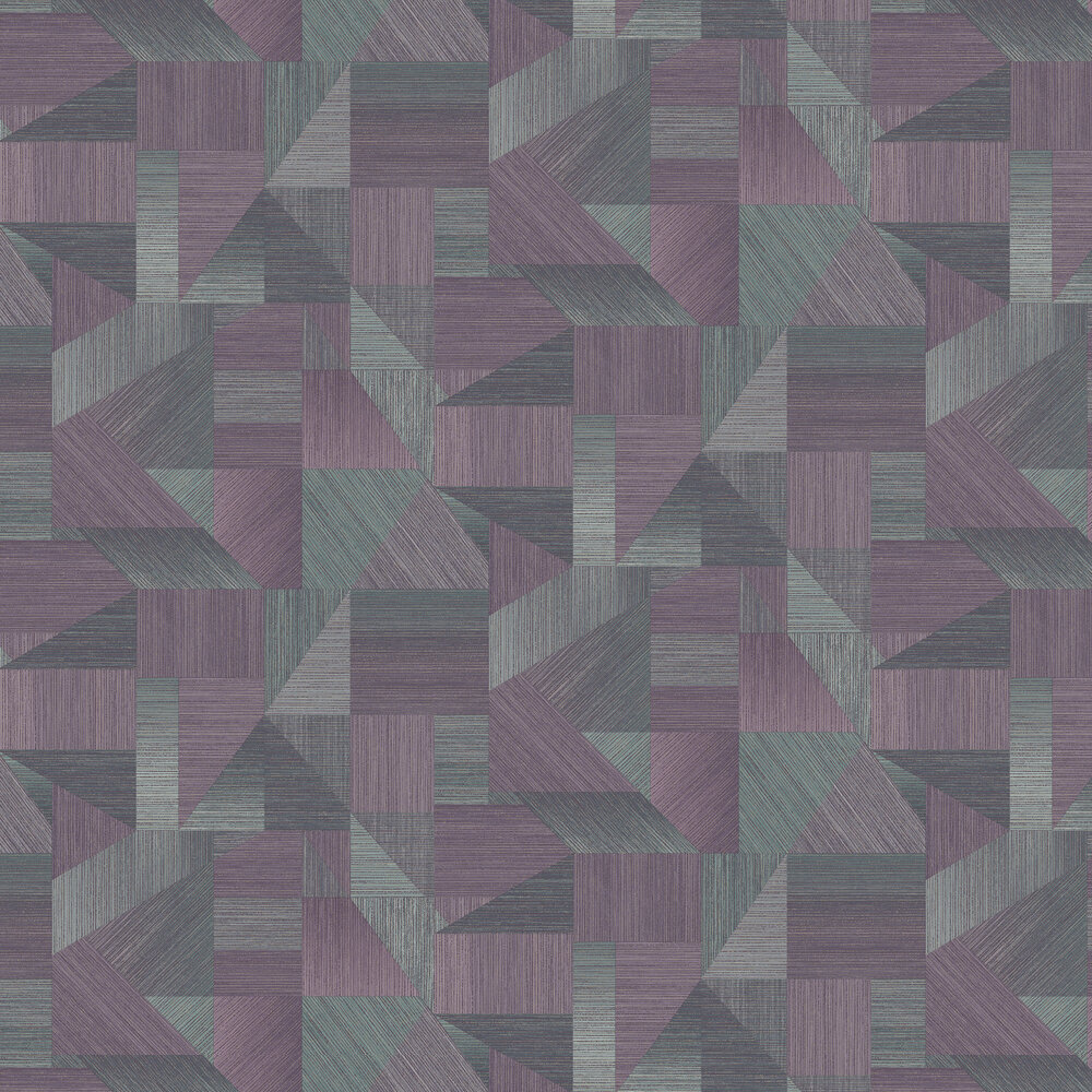 Laronda  Wallpaper - Plum/ Teal - by Albany