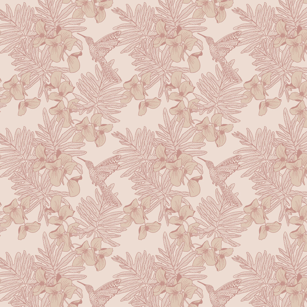 Hummingbird Wallpaper - Beach - by 1838 Wallcoverings