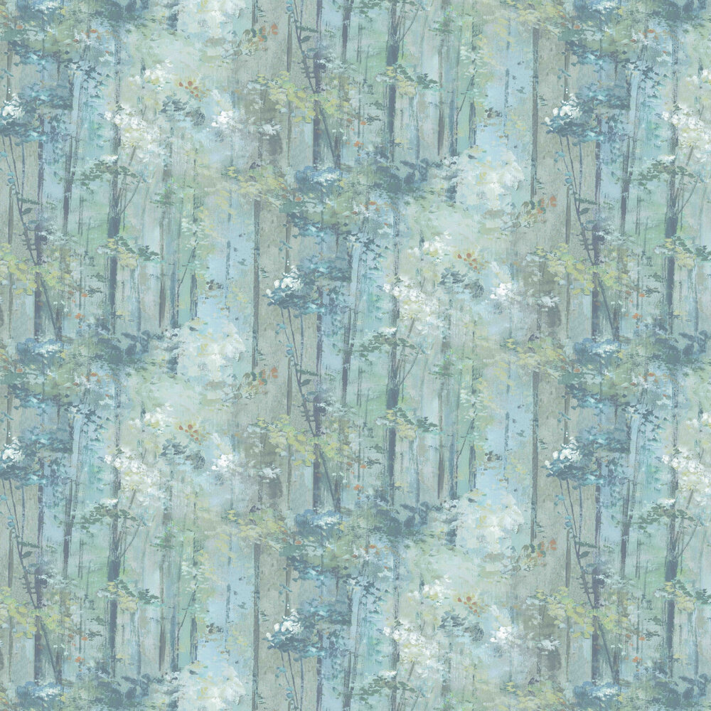 Glade Wallpaper - Seafoam - by 1838 Wallcoverings