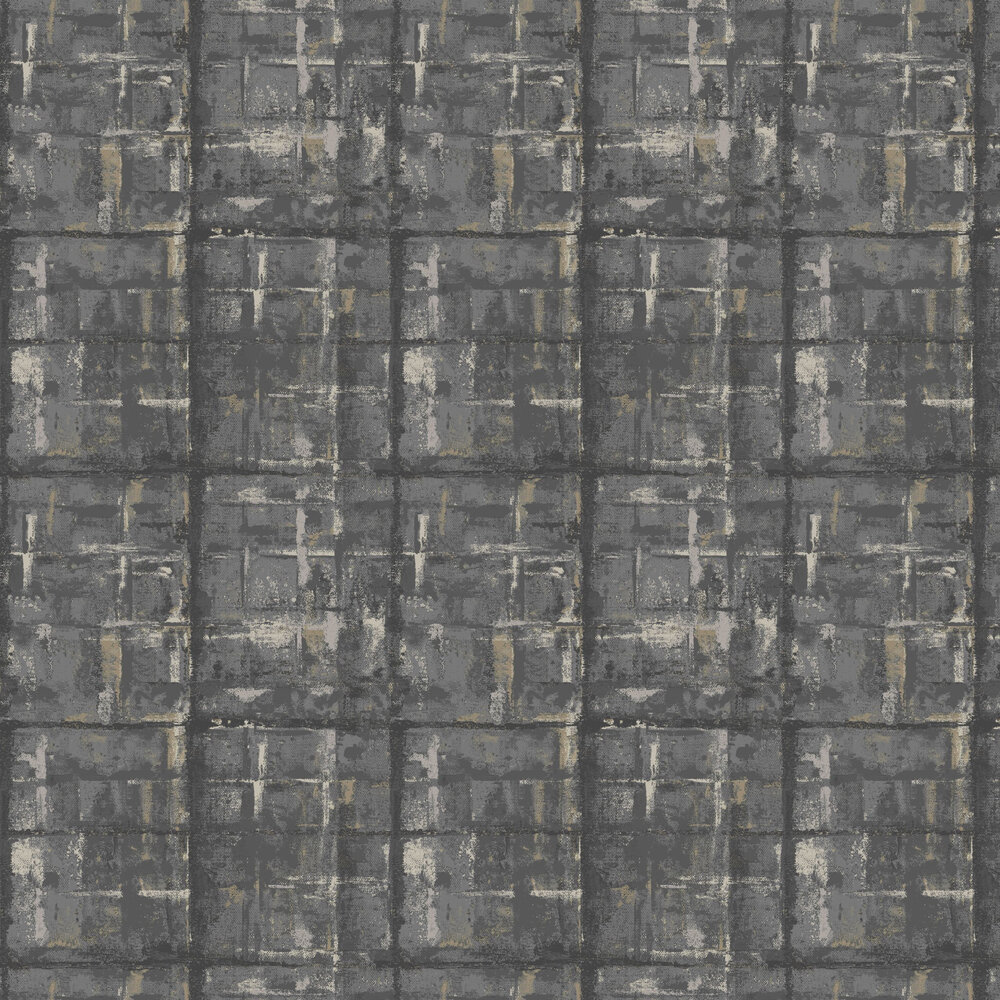 1838 Wallcoverings Patina Jet Wallpaper - Product code: 1804-120-01