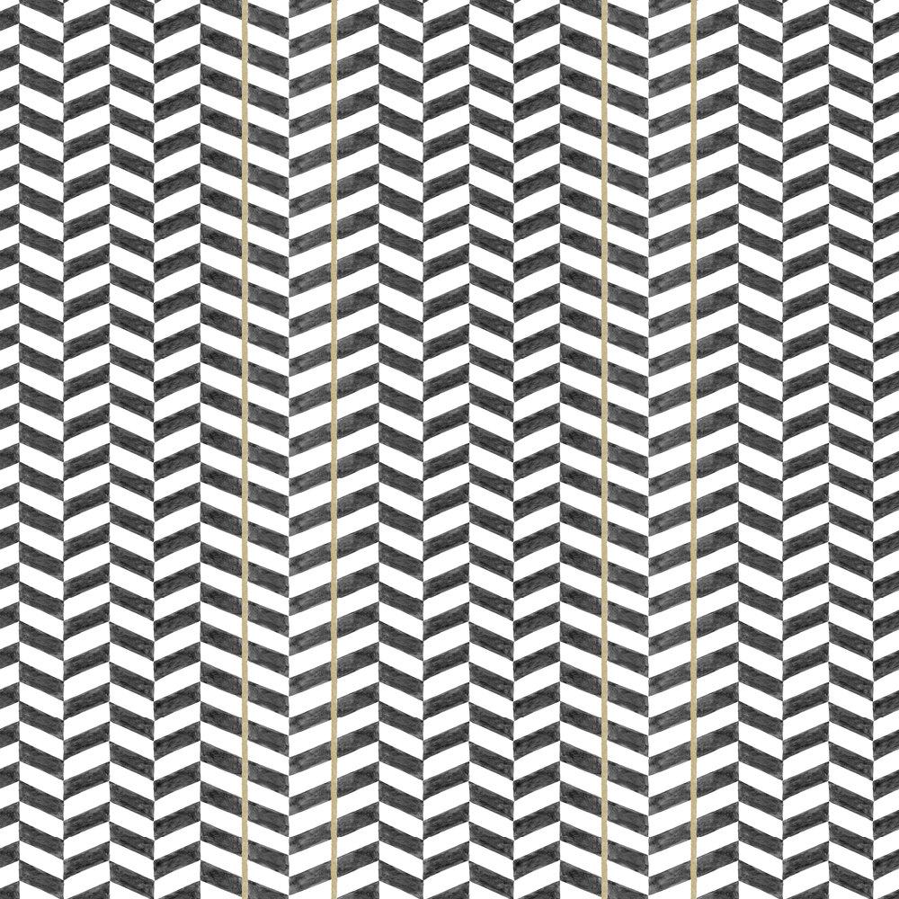 Espiga Wallpaper - Black - by Coordonne