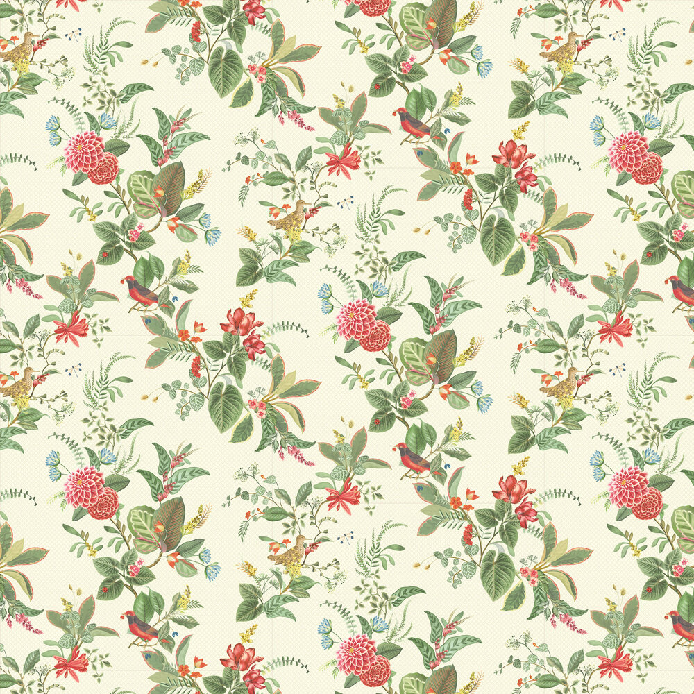 Eijffinger Floris White Wallpaper - Product code: 300110