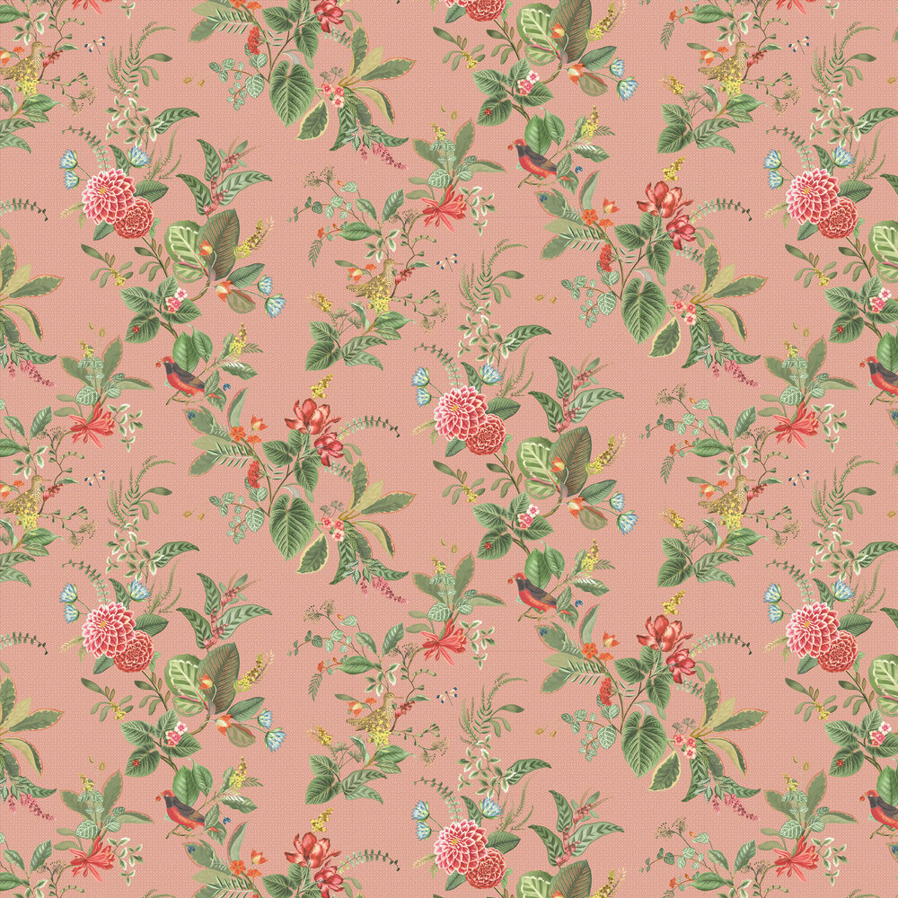 Eijffinger Floris Pink Wallpaper - Product code: 300111