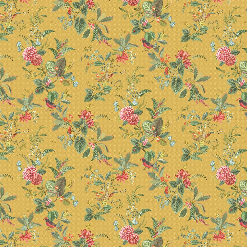 Floris Wallpaper - Yellow - by Eijffinger