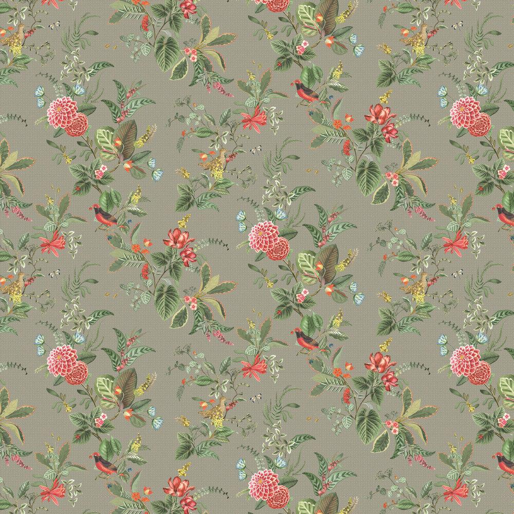 Floris Wallpaper - Khaki - by Eijffinger