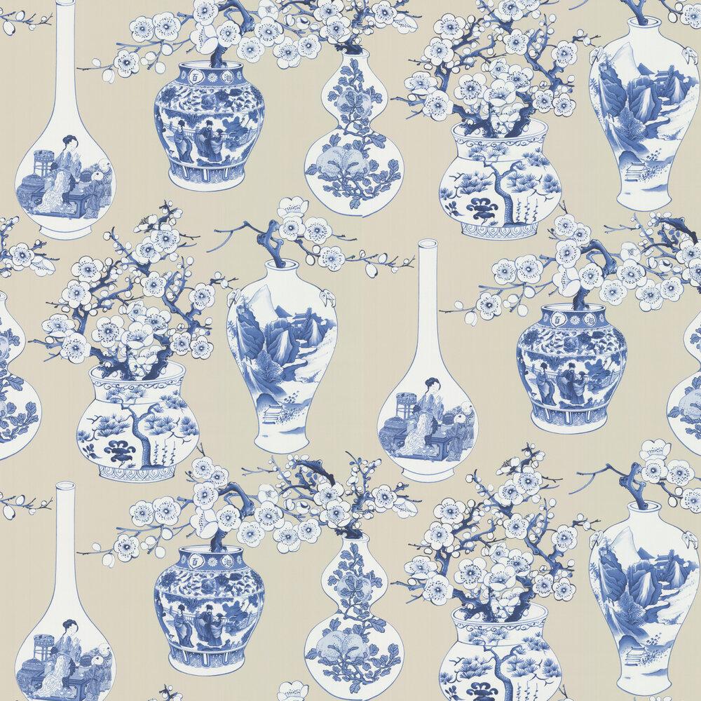 Manuel Canovas Belem  Indigo Wallpaper - Product code: 03090-03