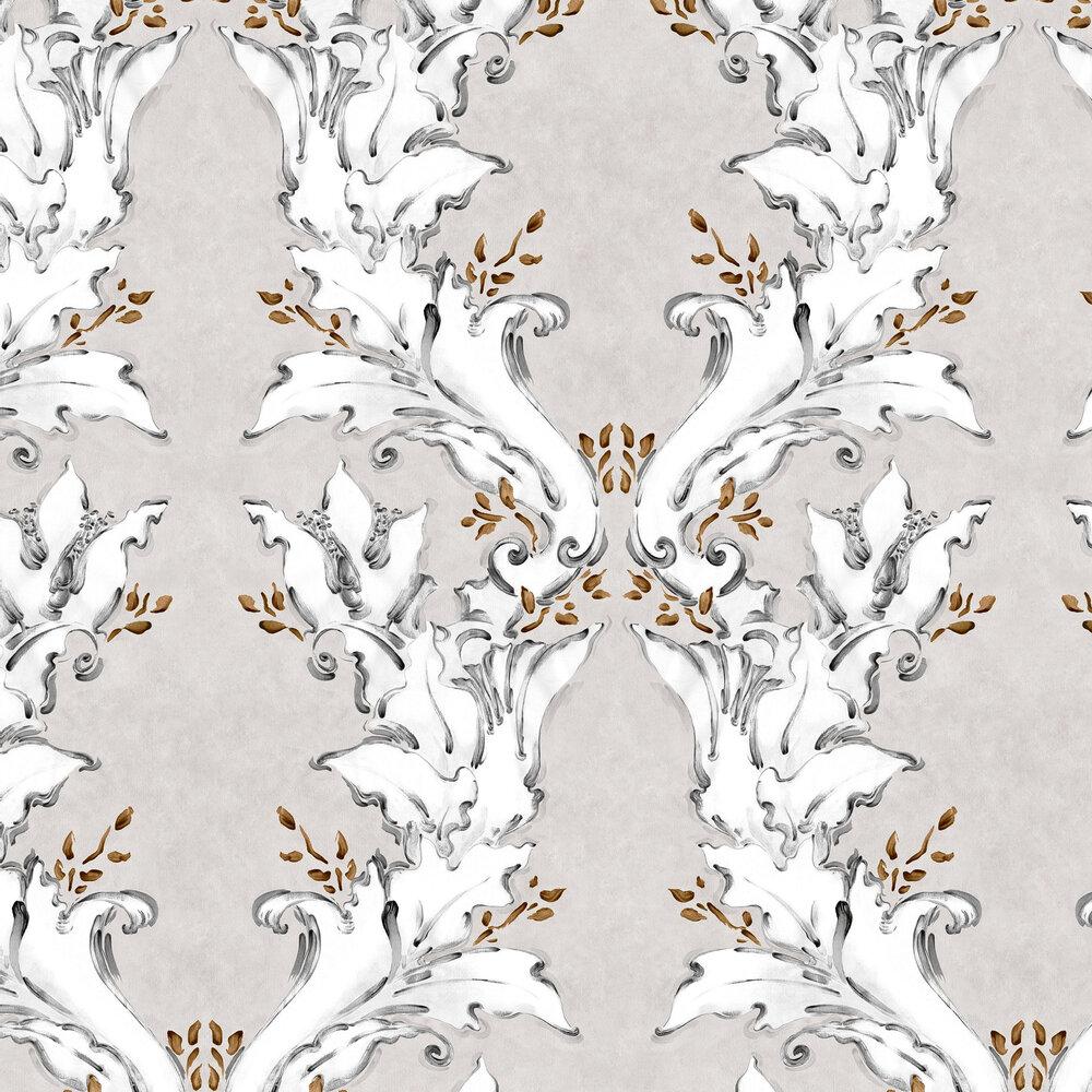 Ornamental Wallpaper - Silver - by Coordonne