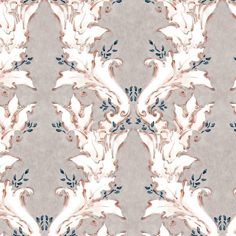 Ornamental Wallpaper - Earth Brown - by Coordonne