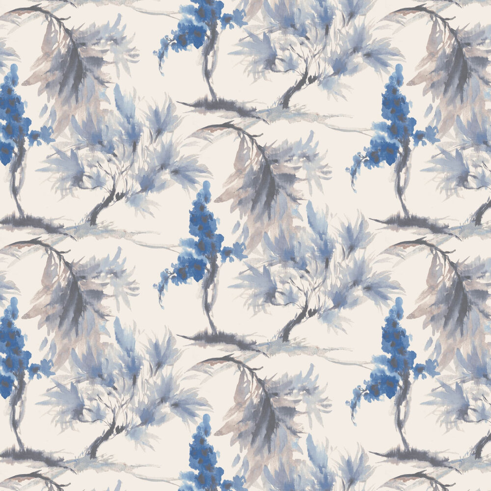 Mimosa Wallpaper - Azure - by 1838 Wallcoverings