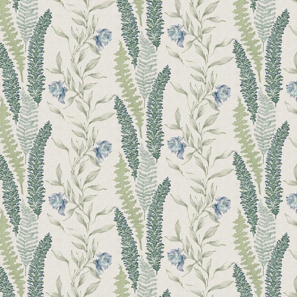 Floral Wallpaper - Sage - by Coordonne