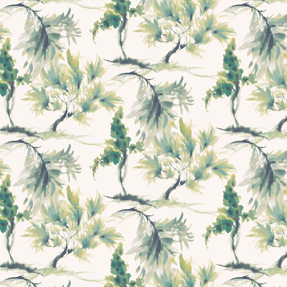 Mimosa Wallpaper - Olive Green - by 1838 Wallcoverings