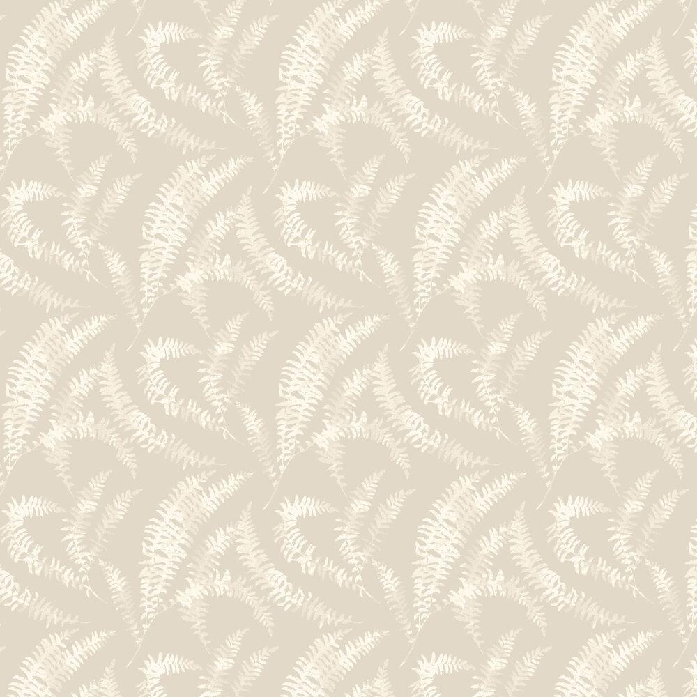 Felci Wallpaper - Sandstone - by 1838 Wallcoverings