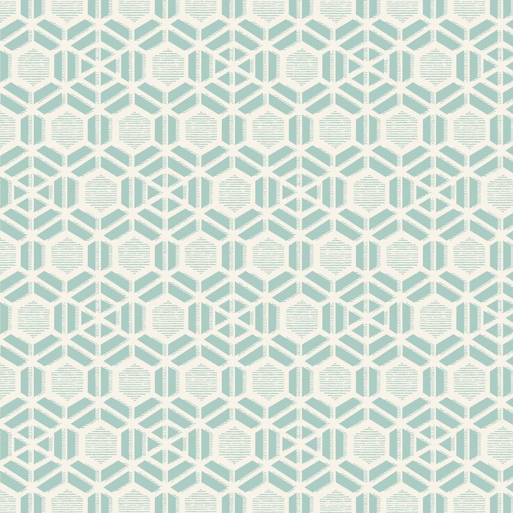 1838 Wallcoverings Capri Aquamarine Wallpaper - Product code: 1905-126-01