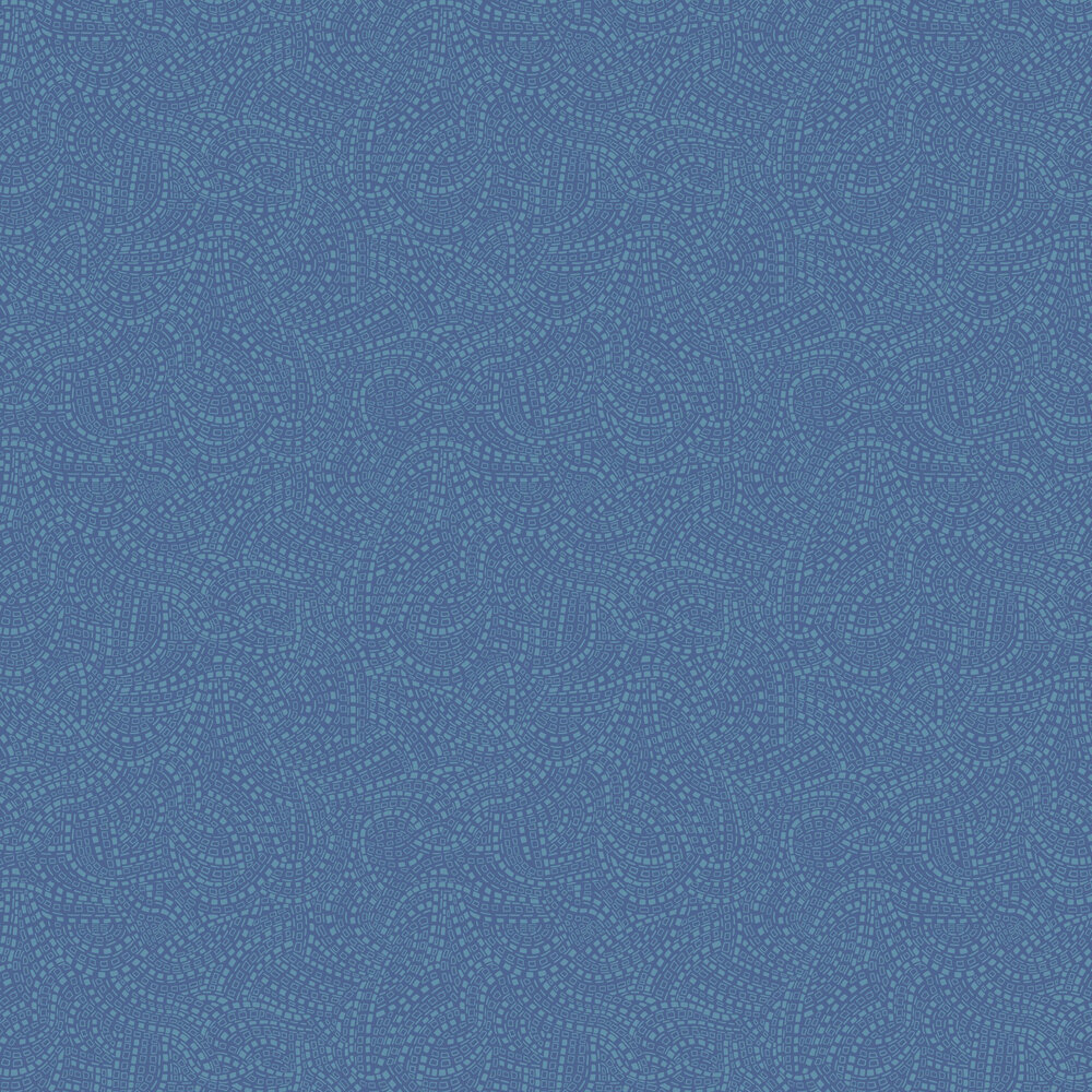 1838 Wallcoverings Mosaic Azure Wallpaper - Product code: 1905-127-02
